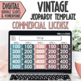 Commercial Use Editable Jeopardy Template Google Slides Vintage