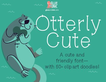 Commercial Font + Clip Art: Otterly Cute!