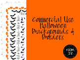 "Commercial Use: ""Halloween"" Borders and Backgrounds"