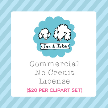 Clip Art: Commercial Use License for One Set (No Credit Required)