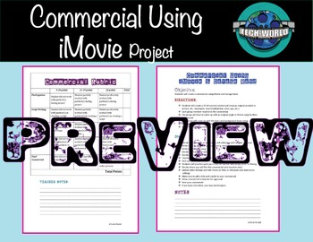 Commercial Using iMovie and Garage Band