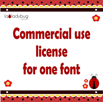 Commercial use license for one font.