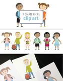 Clip Art Kids - Commercial School Children Clip Art