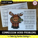 Commission Word Problem Color By Number Activity