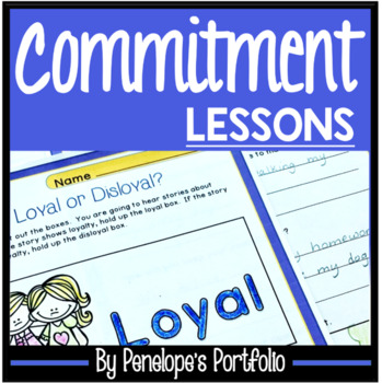 COMMITMENT Character Education Packet