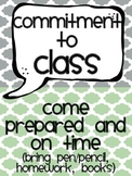 Commitment to CLASS {class rules & expectations}