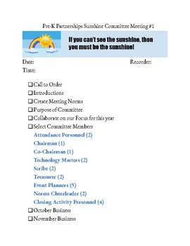 Committee Meeting Agenda