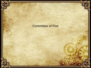 Committee of Five PowerPoint
