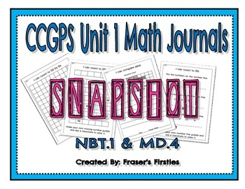 Commmon Core GPS Math Journals for NBT.1 and MD.4