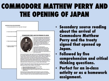 Commodore Matthew Perry and the Opening of Japan - US/Global/World History