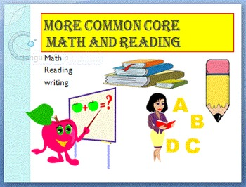 More Commom Core Math and Reading preview sheets
