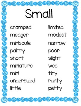 Common Adjective and Synonym Posters