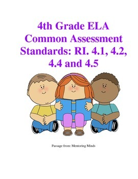 Common Assessment for 4RI.4.1,2,4,5