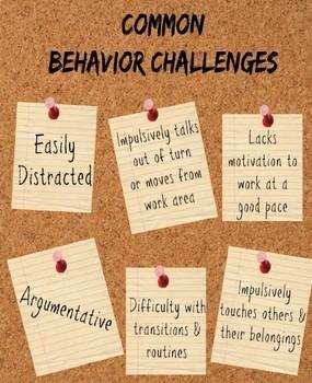 Common Behavior Challenges: Intervention Guide