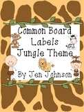 Common Board Labels Jungle Theme