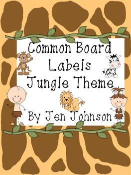 Common Board Labels Jungle Theme