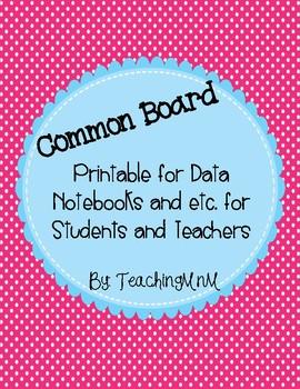 Common Board Printable