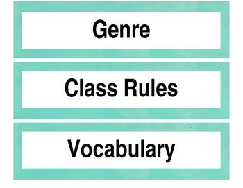 Common Board, good readers, QAR, procedures, & accountable talk  signs