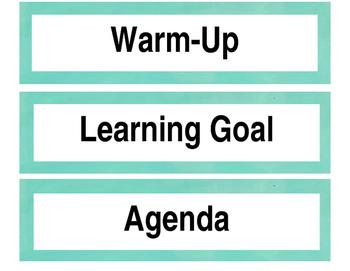 Common Board, good readers, QAR, procedures, & accountable