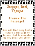Common Book Themes Posters and Reference Sheet