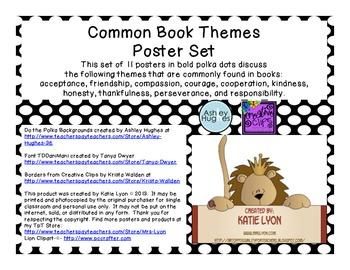 Common Book Themes in Polka Dots (Bold)