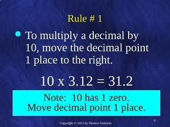 Common Core 5th - Decimals 5 - Multiplying By Multiples of Ten