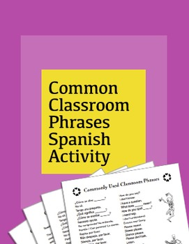 Common Classroom Phrases Spanish Activity