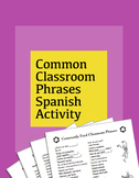 Common Classroom Phrases Spanish Activity