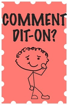 Common Classroom Questions Poster (In French)