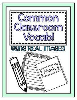 Common Classroom Vocabulary