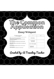 The Common Application Essay Webquest (Editable)