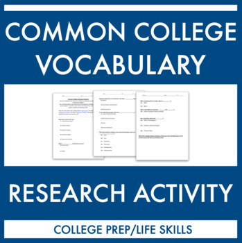 Common College Vocabulary Research Activity