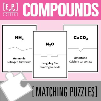 Common Compounds Science Matching Puzzles