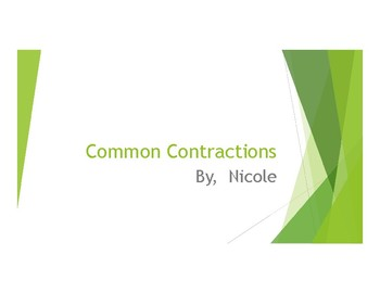 Common Contractions