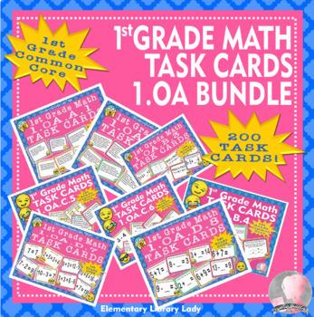 Common Core 1.OA #1-8 Math Task Cards BUNDLE - 200 Task Cards