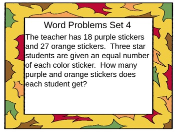 Common Core 1 and 2-step word problems