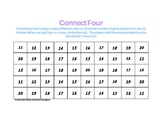 Common Core 10 Frame Connect Four teen numbers