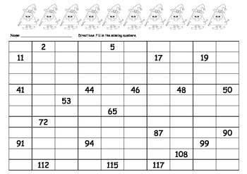 Common Core 100 grid fill in the blank - Candy Corn