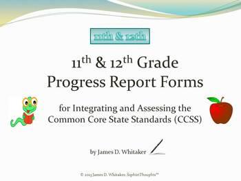 Common Core 11-12th Grade English Standards Cumulative Progress Reports