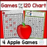 120 Chart Games Autumn Apples Math