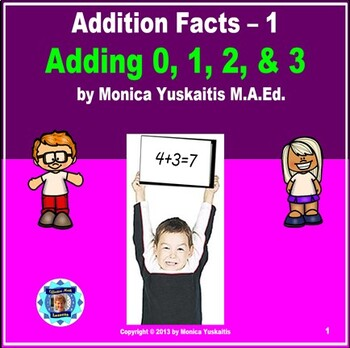 Common Core 1st - Addition Facts 1 - Adding 0, 1, 2, & 3 by Counting On