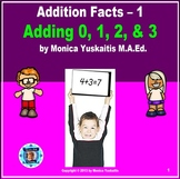 1st Grade Addition Facts 1 - Adding 0, 1, 2, & 3 by Counting On Lesson