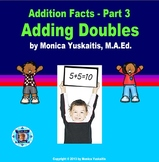 1st Grade Addition Facts 3 - Adding Doubles Powerpoint Lesson
