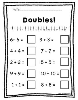 Common Core 1st Grade Addition Printables