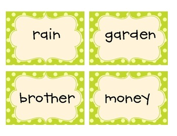 Common Core 1st Grade Dolch Nouns Flashcards
