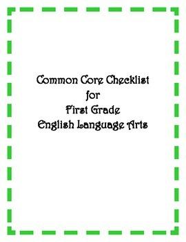 Common Core: 1st Grade ELA Checklist