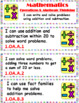 """Common Core 1st Grade """"I can…"""" Statements for ELA & Math (1/4 page) + Bonuses!"""