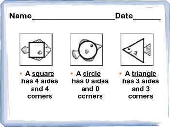 Common Core 1st Grade Math-Geometric shapes