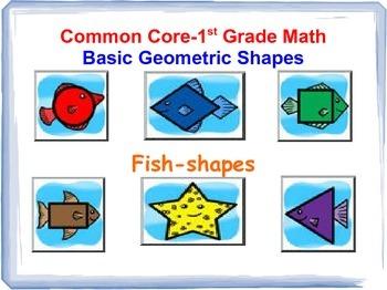 Common Core 1st Grade Math-Geometric shapes