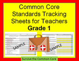 Tracking Sheets (EDITABLE) Common Core 1st Grade Math by Domain/Cluster/Standard